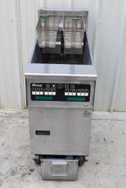 PITCO SFSE14 40-50lb ELECTRIC FLOOR FRYER with FILTRATION SYSTEM
