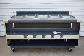 NEW DELFIELD F14EI572-221 5 WELL ELECTRIC STEAM TABLE with PLATE WARMER