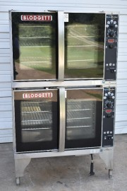 2016 BLODGETT HV-100E 480/3 DOUBLE DECK ELECTRIC HYDROVECTION OVEN 480V
